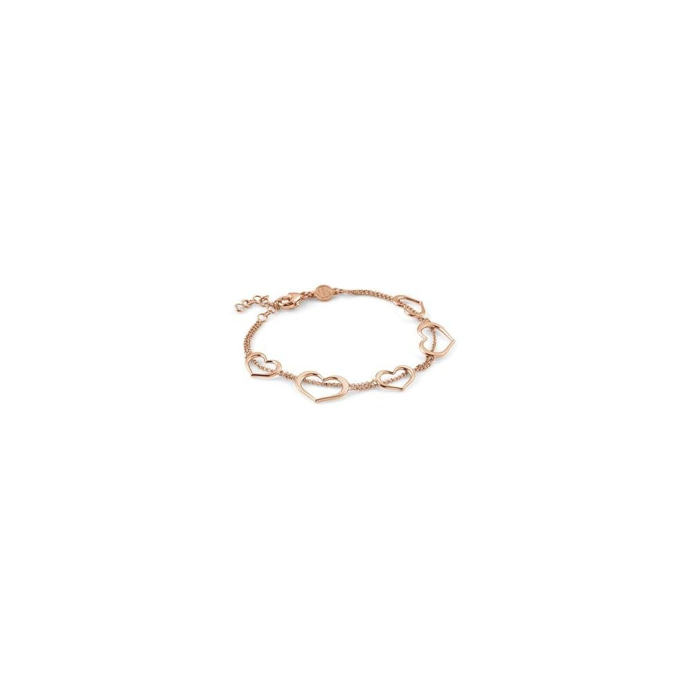 min london pink heart brown bracelet jewellery molly girls elodie