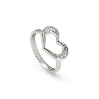Nomination Unica Sterling Silver Heart Ring