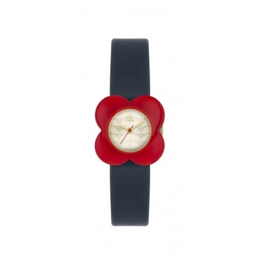Orla Kiely Ladies Watch Black and Red