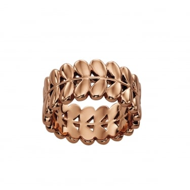 Orla Kiely Rose Gold Plated Leaf Ring