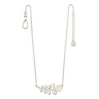 Orla Kiely Silver Plated Leaf Necklace