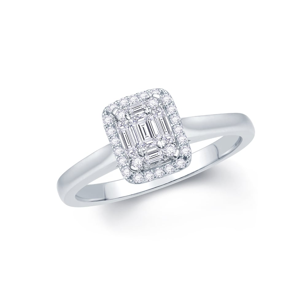 product engagement diamond halo rings white gold ring