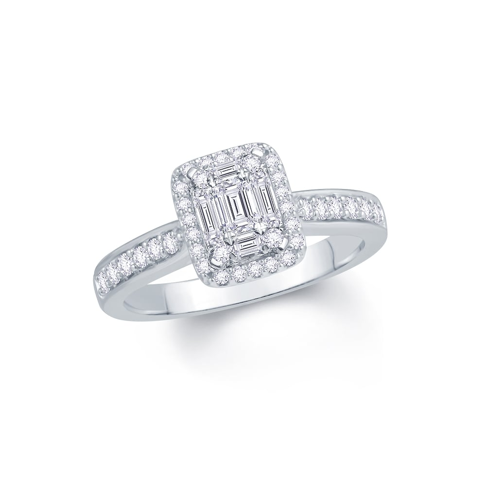 brilliant diamond single carat p stone ring metal platinum cut asp round
