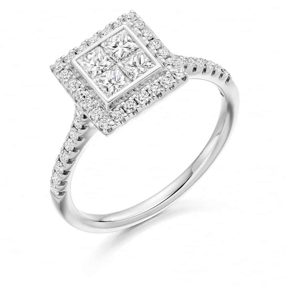 ring rings halo center wedding my love pin round cut diamond engagement square i