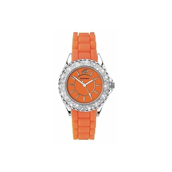 Party Time Partytime Orange CZ Watch