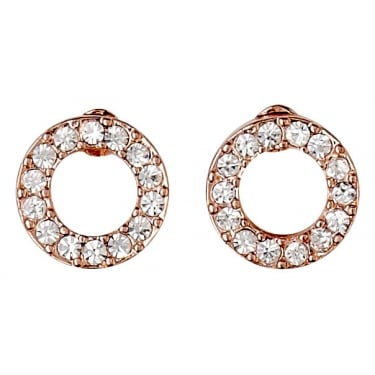 Pilgrim Rose Gold Coloured Crystal Earrings