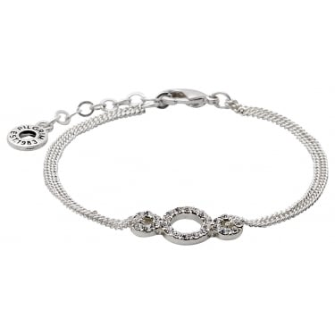 Pilgrim Silver Coloured Crystal Bracelet