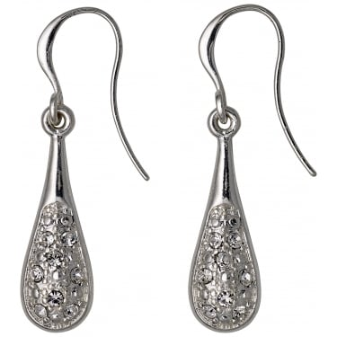 Pilgrim Silver Coloured Crystal Earrings
