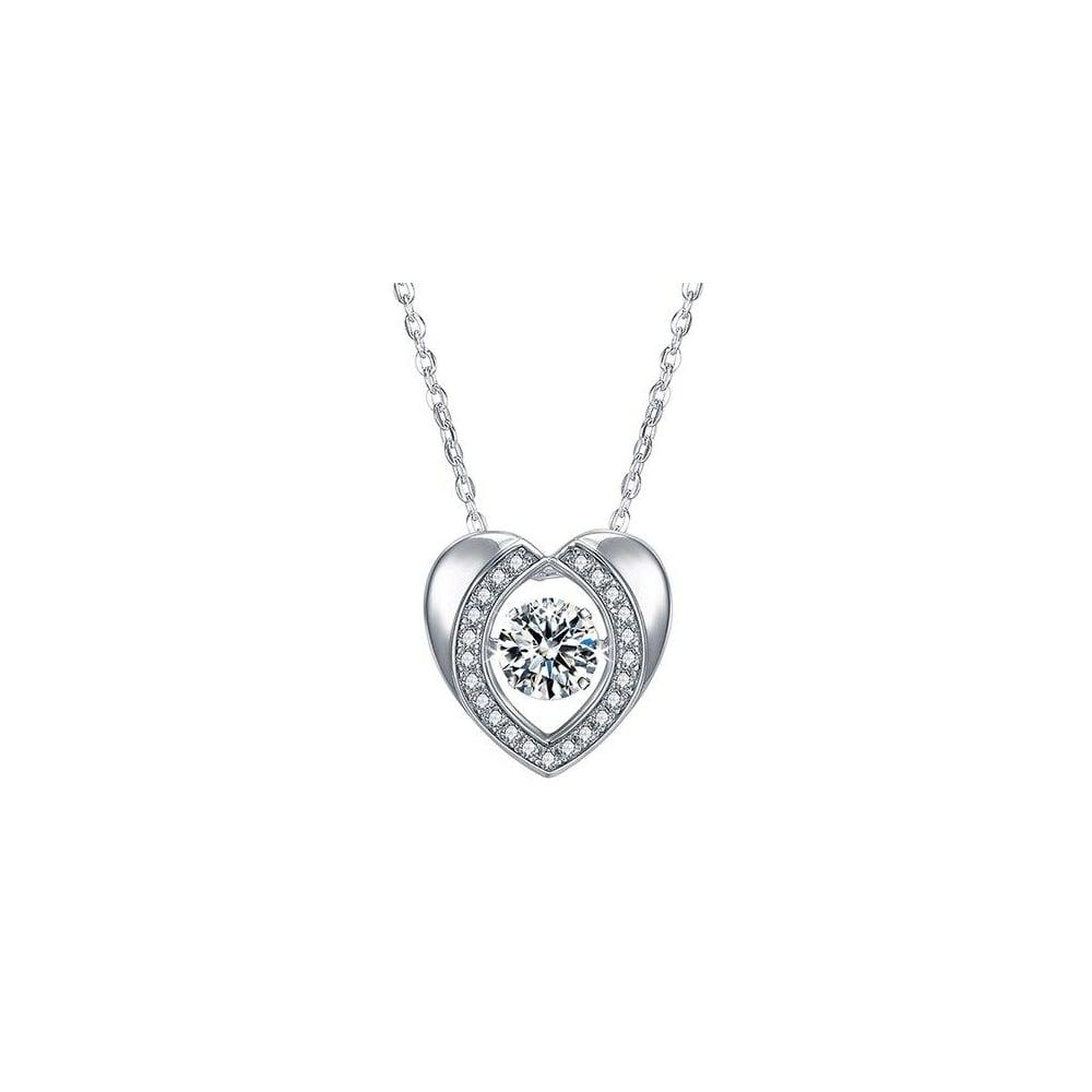 Pirouette piroutte silver swarovski stone heart necklace jewellery piroutte silver swarovski stone heart necklace aloadofball Image collections