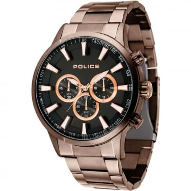 Police Gents Rose Gold Watch