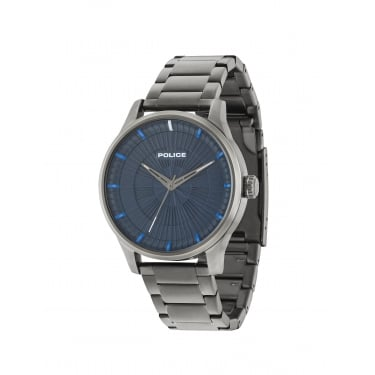 Police Jet Blue Dial Stainless Steel Bracelet Gents Watch