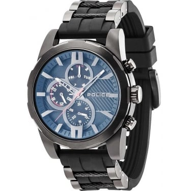 Police Matchcord Gents Black Plastic Strap Watch