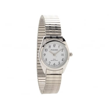 Pulsar Ladies Silver Expandle Strap Watch