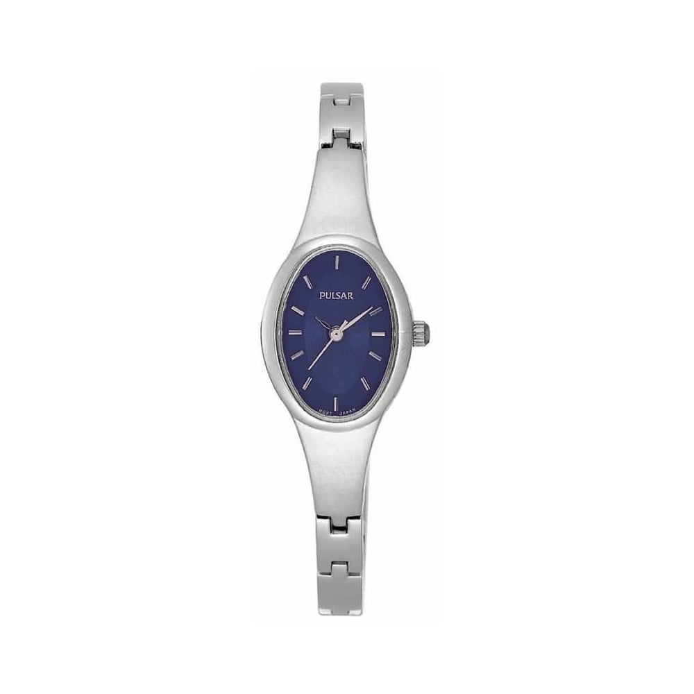 Pulsar Ladies Watch Silver with Navy Face - Watches from Faith ... 6a248885d
