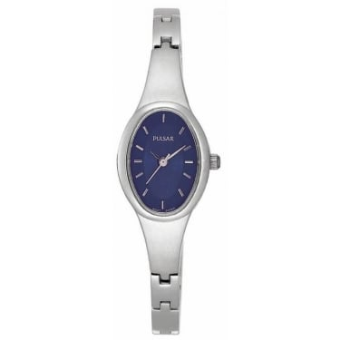 Pulsar Ladies Watch Silver with Navy Face