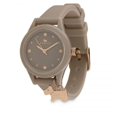 Radley Ladies Brown Rubber Dog Watch