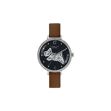 Radley Ladies Folk Dog Brown Leather Watch