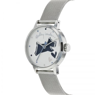 Radley Ladies Love Lane Silver Dog Watch