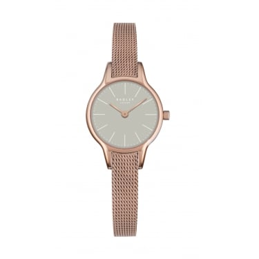 Radley Ladies Rose Gold Plated Mesh Bracelet Watch