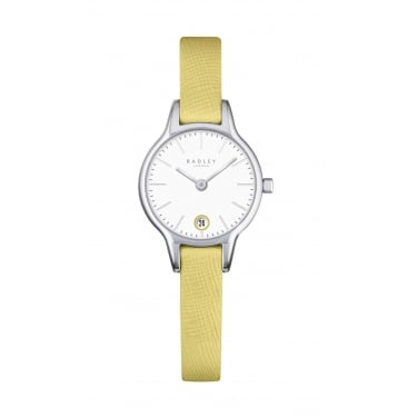 Radley Ladies Yellow Leather Strap Watch