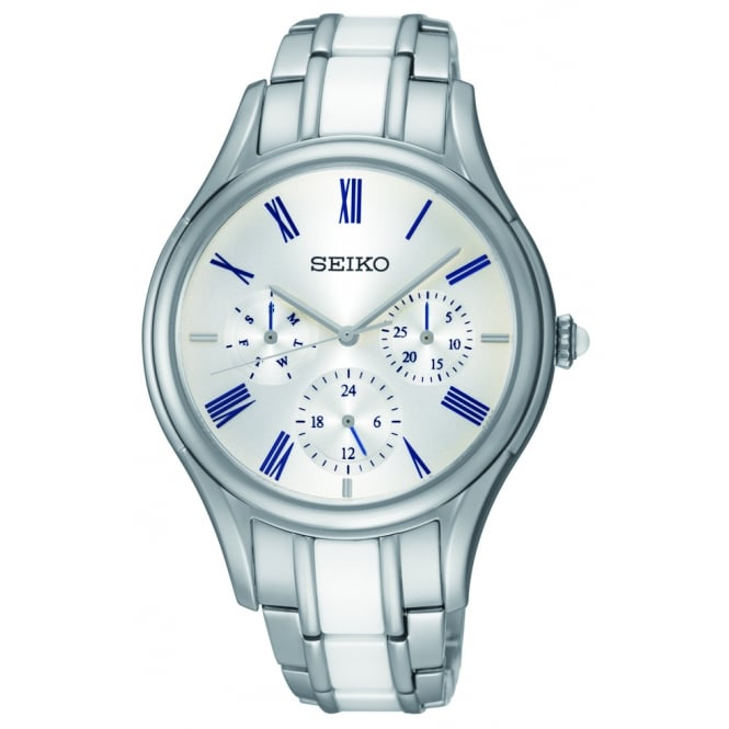 Seiko Ladie Silverr and White Watch