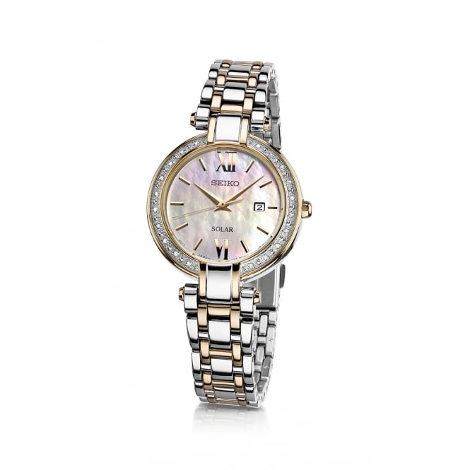 Seiko Ladies Silver and Yellow Gold Watch