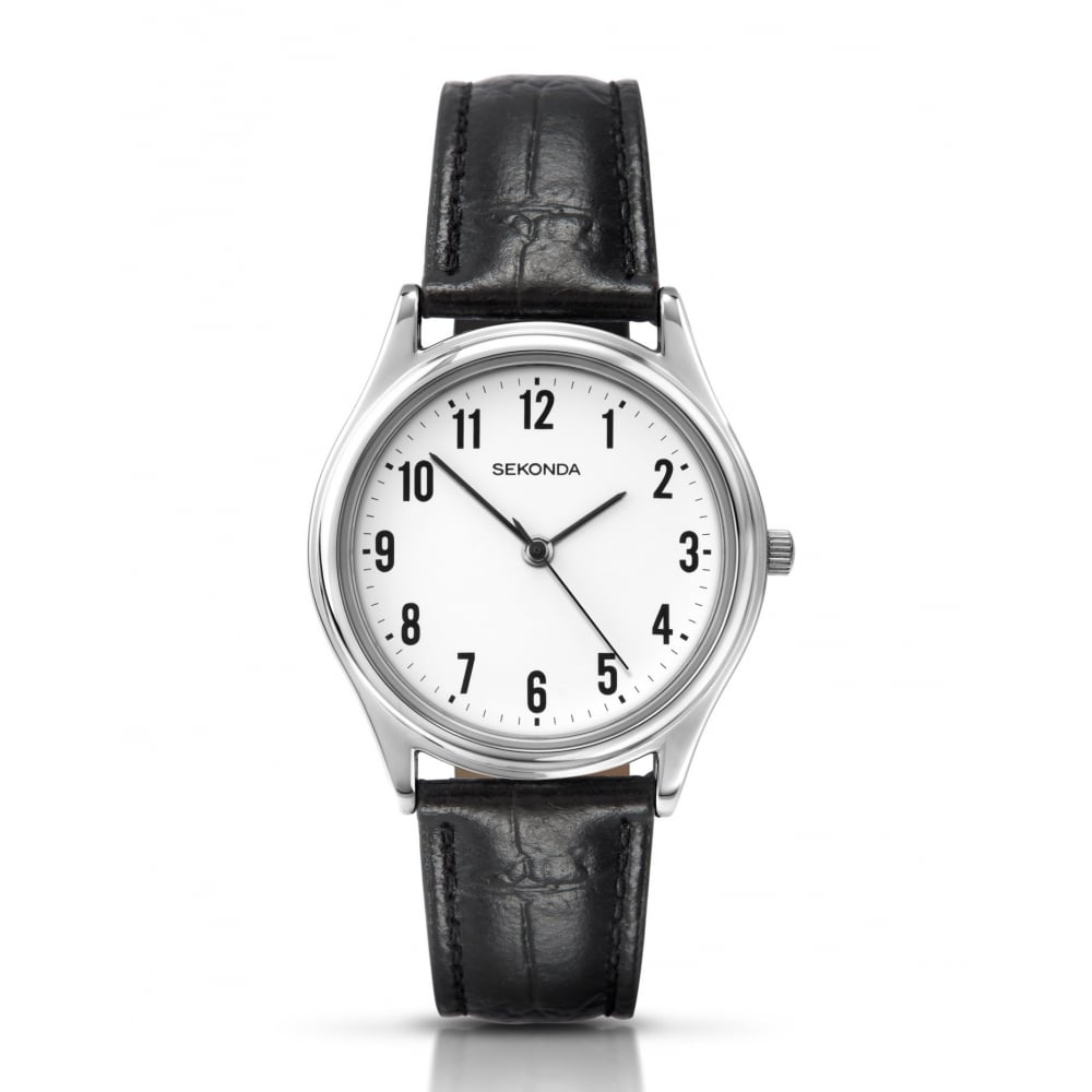 66f0702db Sekonda Gents Black Leather Strap Watch - Watches from Faith ...