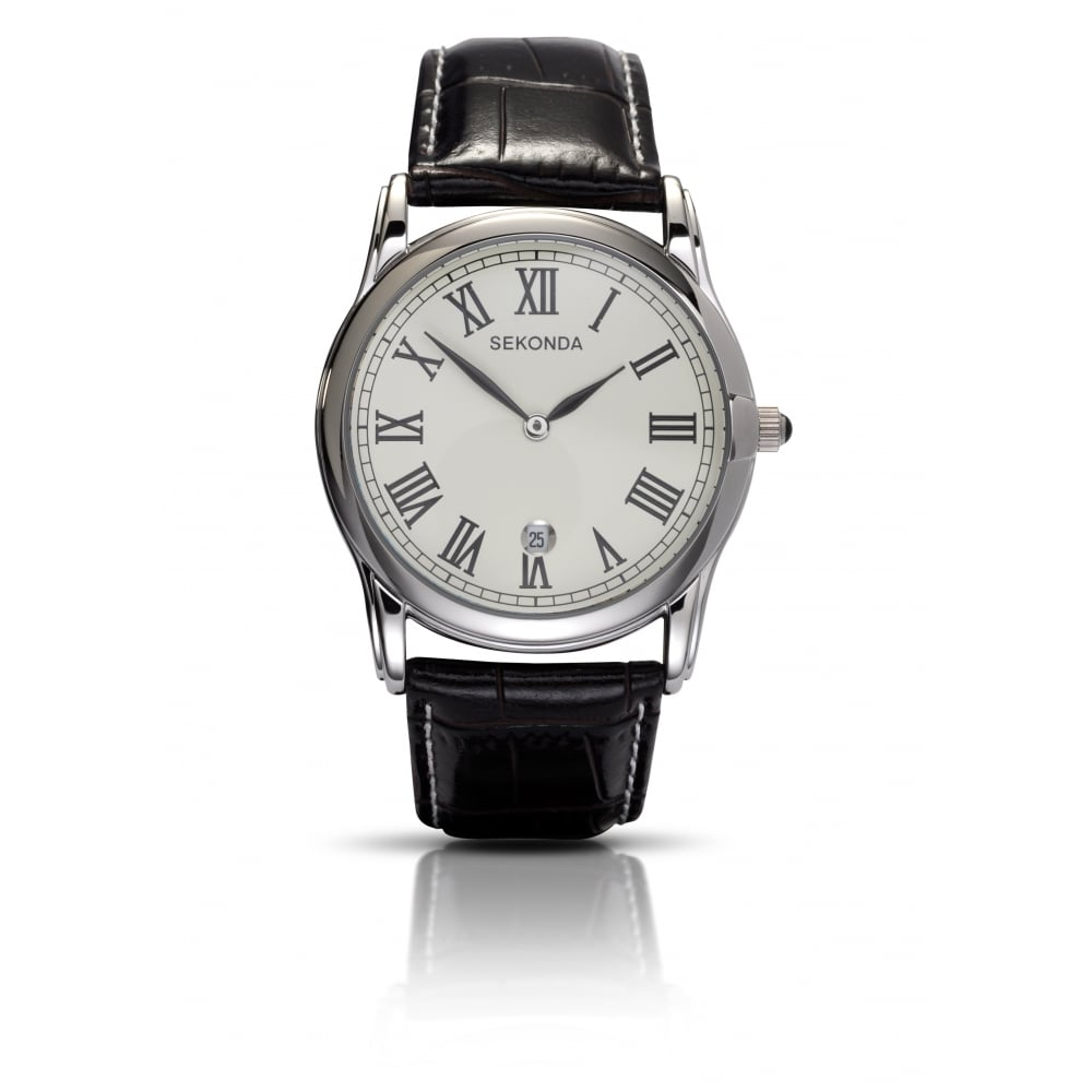 478ab7351 Sekonda Gents Black Leather Strap Watch - Men's Watches from Faith ...