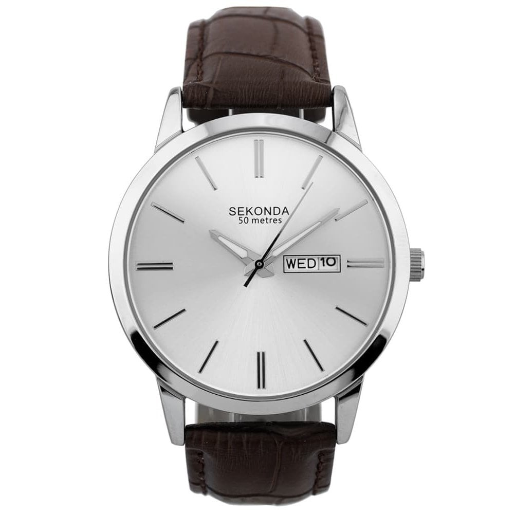 42bcd6e9e Sekonda Gents Brown Leather Watch - Men's Watches from Faith ...