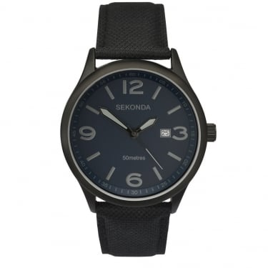 Sekonda Gents Navy Leather Watch