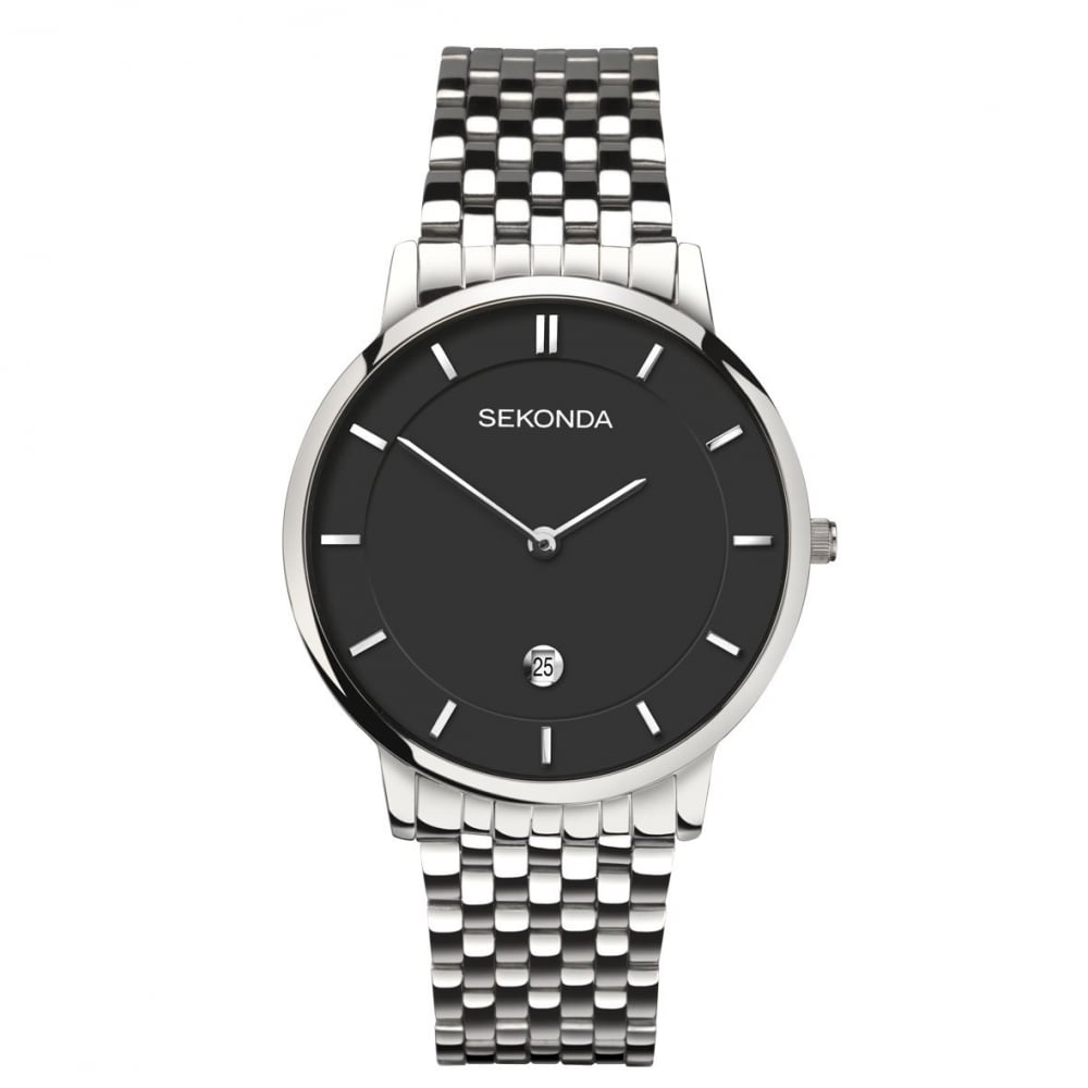 41045f42e Sekonda Gents Silver Black Watch - Watches from Faith Jewellers UK