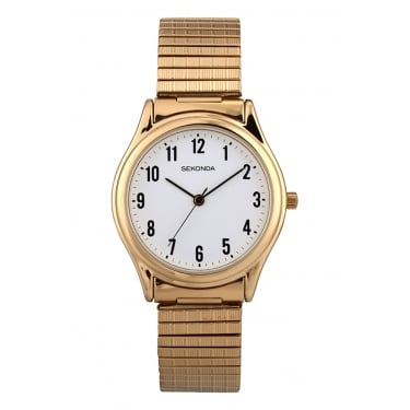 Sekonda Gents Yellow Gold Expandable Watch