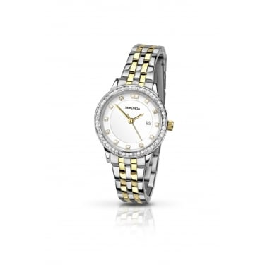 Sekonda Ladies Silver and Yellow Gold Watch