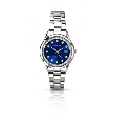 Sekonda Ladies Silver Strap with Blue Face Watch
