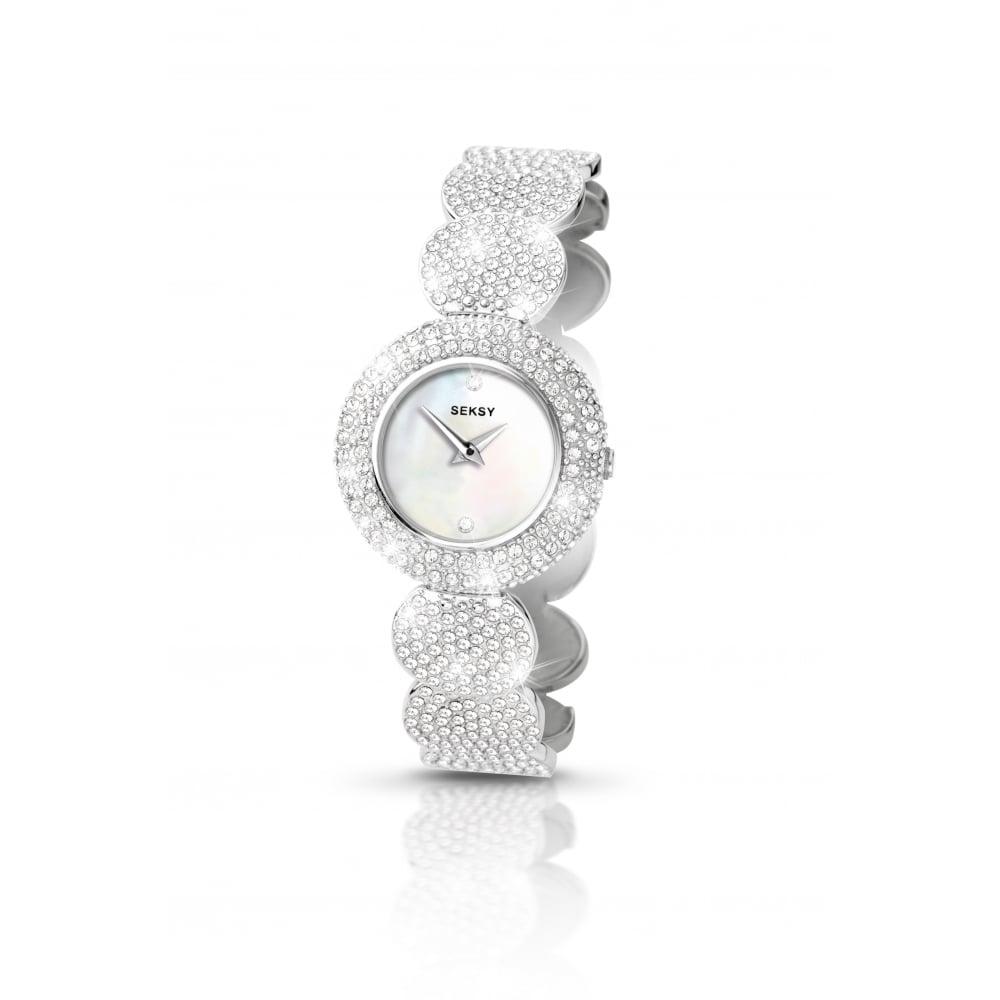 Sesky Seksy Ladies White Swarovski Crystal Elegance Watch - Watches ... 5a5a687e9fc1