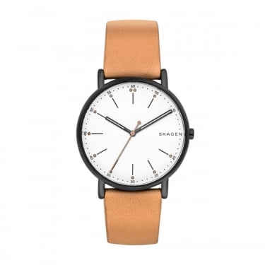 Skagen Gents Brown Leather Strap Signatur Watch