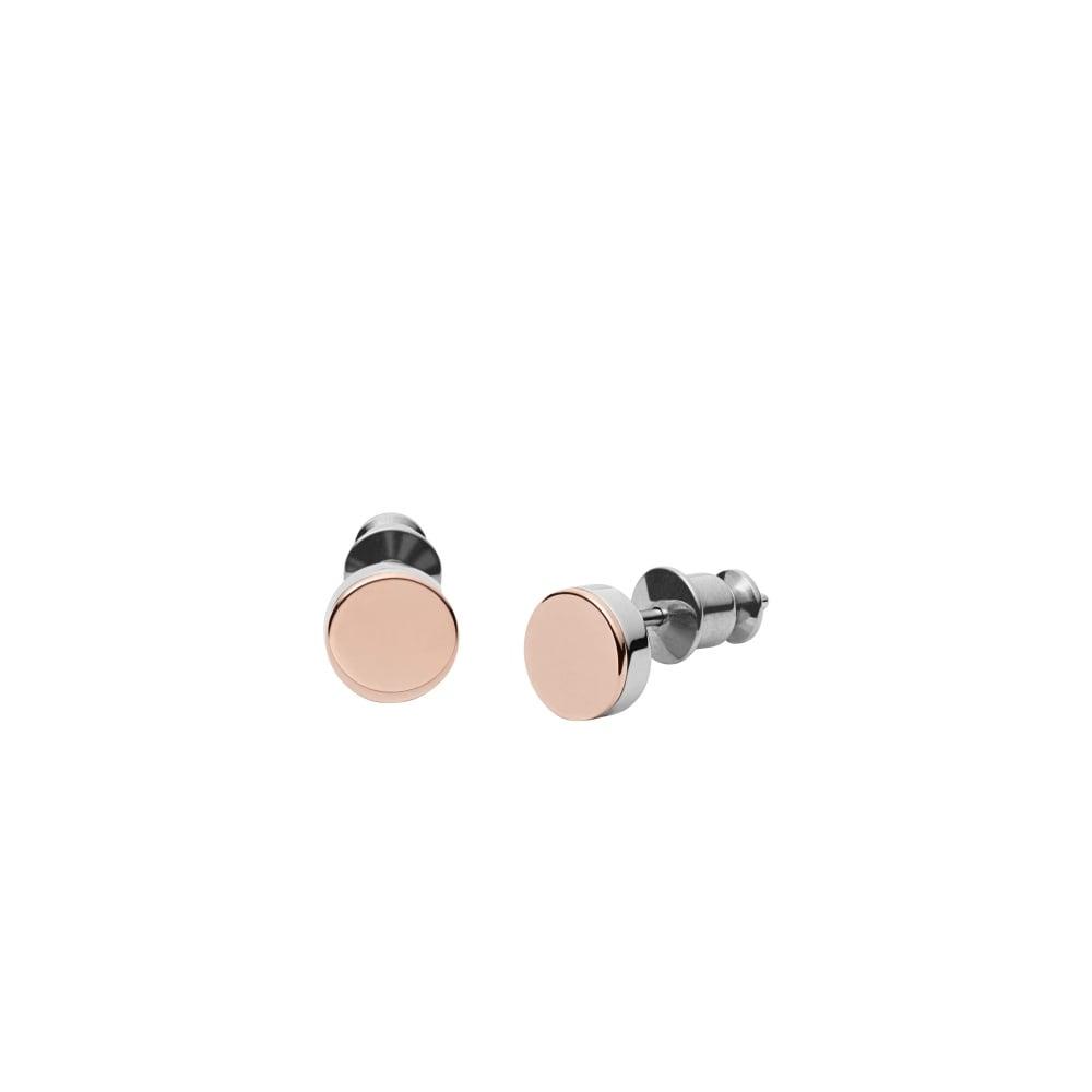 0154fe671 Skagen Silver Rose Gold Elin Earrings - Jewellery from Faith ...