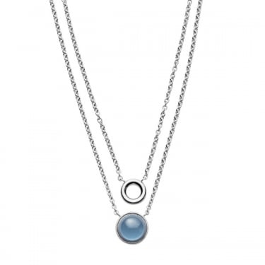 Skagen Silver Sea Glass Layered Necklace