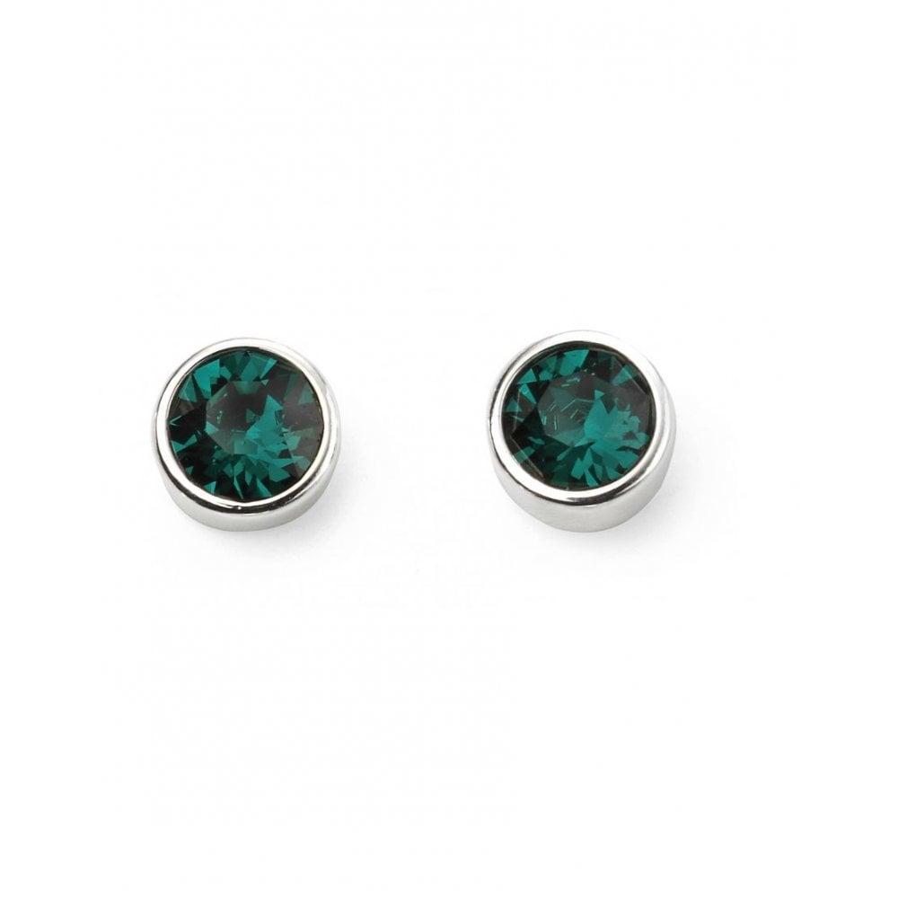 87fb6c534 Elements Sterling Silver Emerald Green Swarovski Crystal Stud ...