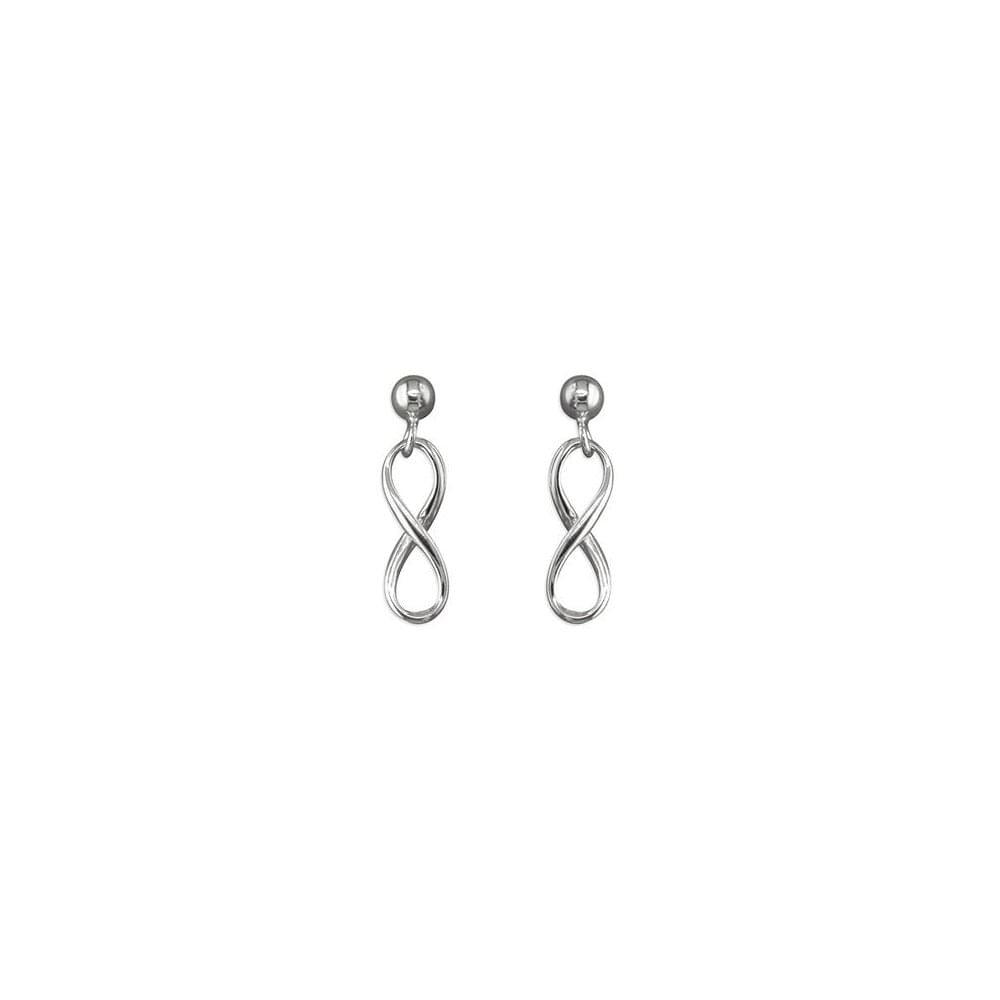 Faith Sterling Silver Sterling Silver Infinity Symbol Drop Earrings