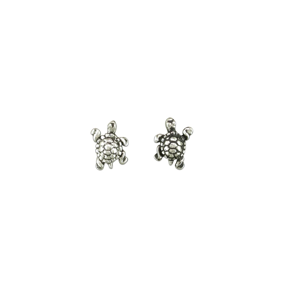 silver pe products sea stud details petite earrings plain swimming product aeravida turtle sterling