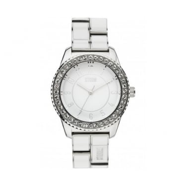 Storm Neona White and Silver Watch