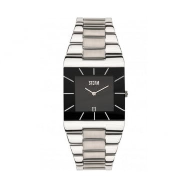 Storm Omari XL Black and Silver Watch