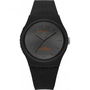 Superdry Gents Black Herringbone Watch