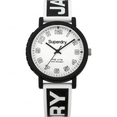 Superdry Gents Campus Black White Watch