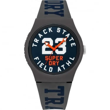 Superdry Gents Grey Urban Track and Field Watch