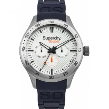 Superdry Gents Navy Rubber Watch