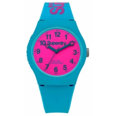 Superdry Gents Urban Blue Pink Watch