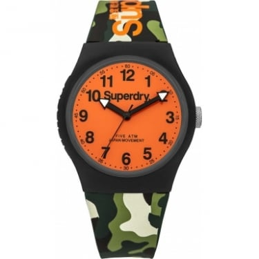 Superdry Gents Urban Camo Orange Watch