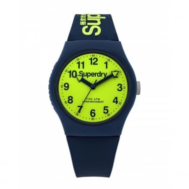 Superdry Gents Urban Navy Green Watch